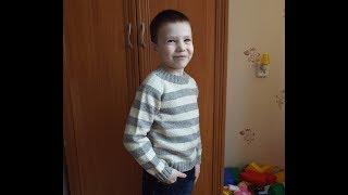 Обзор детского джемпера. Как я его вязала)))