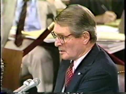 Elliot Richardson at the Bork confirmation hearing