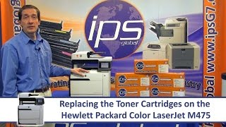 HP M475 - Replacing the Toner …