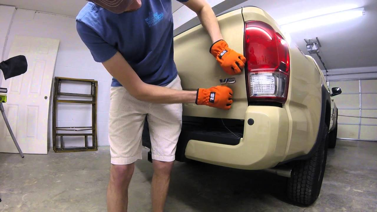2016 Tacoma: How to Remove Badging from your Truck - YouTube