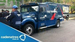 Asaltan camioneta de valores en Bosque de las lomas en la Miguel Hidalgo