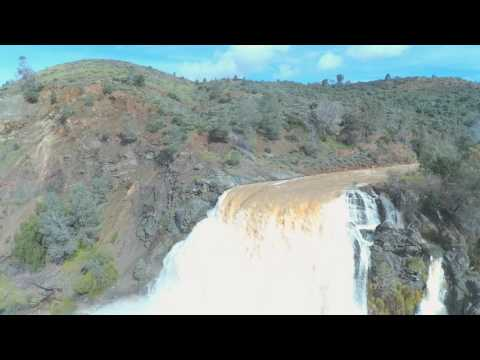 Lake Anderson Spillway Morgan Hill CA Drone Patrick DeLorenzo