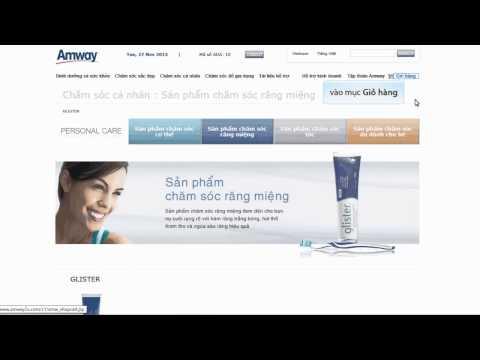 Hướng dẫn thanh toán thẻ NCB trên website www.amway2u.com.vn