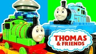 Thomas & Friends Percy At The Destructive Wash Down Monster Truck Thomas The Tank Train Wreck