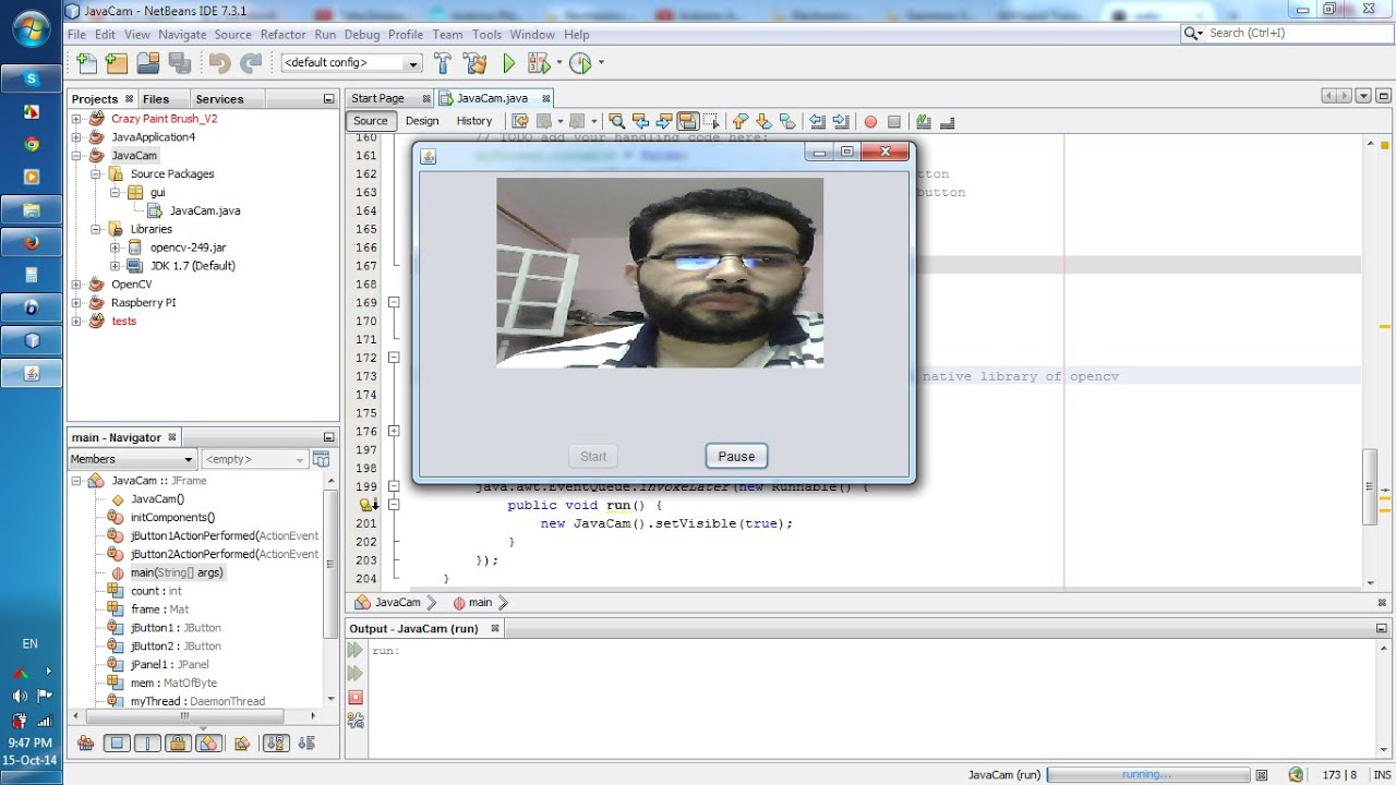 How to capture video from webcam using java with opencv for Image capture