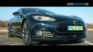 Itt az önvezető villanyautó: próbán a Tesla Model S P85D
