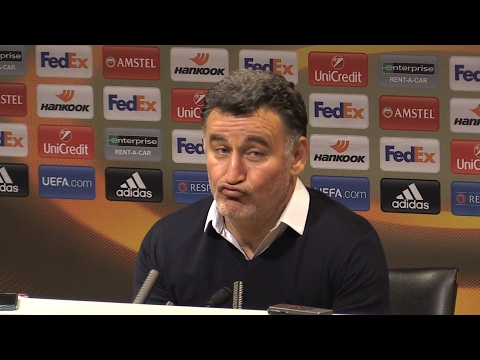 Manchester United 3-0 St Etienne - Christophe Galtier Full Post Match Press Conference