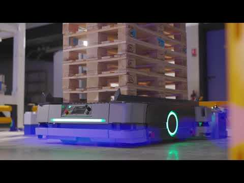 OMRON's HD-1500 autonomous mobile robot for pallet-size loads