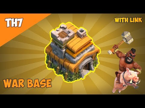 BEST NEW Town Hall 7 War Base 2019 | TH7 Anti Dragon,Anti Hog,Anti 3 Star War Base - Clash Of Clans