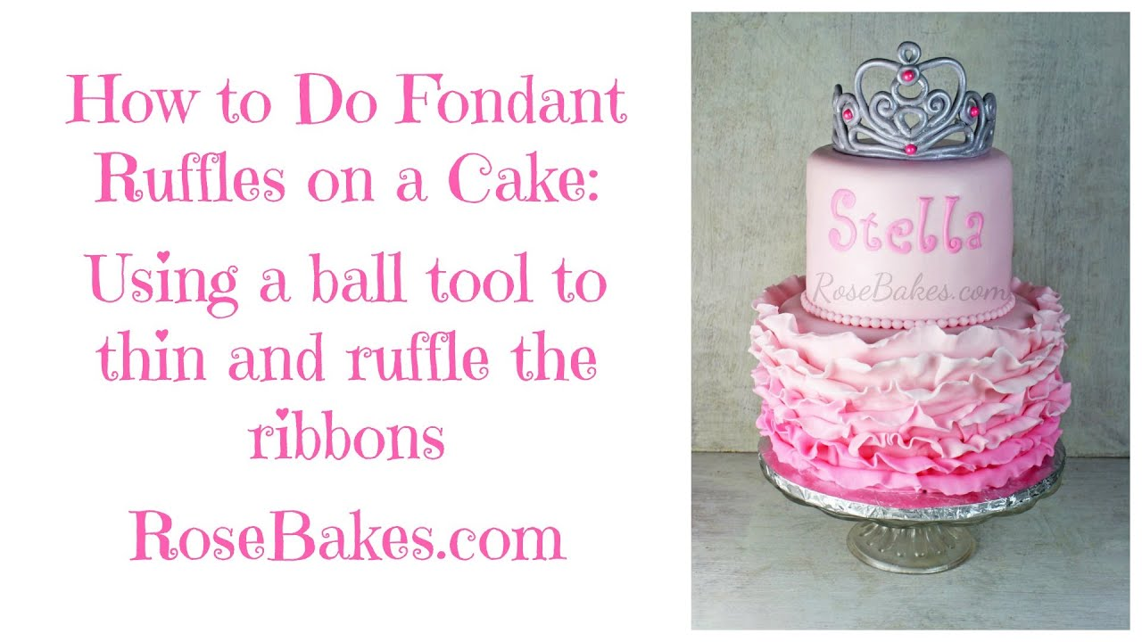 how to make tools out of fondant