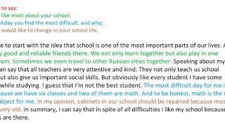 ОГЭ. Устная часть. Монологическое высказывание. About your school.