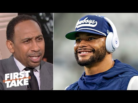 Stephen A. isn't for the Cowboys paying Dak Prescott less money | First Take