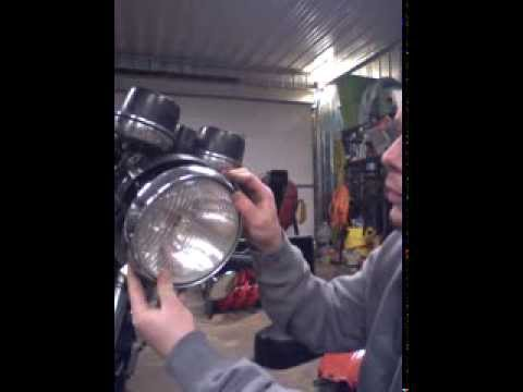 Removing and Inspecting the Headlight and Wiring from an Old Motorcycle on