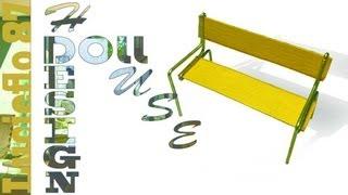 Diy, Doll House, Creer Un Banc ( Bench ) 01
