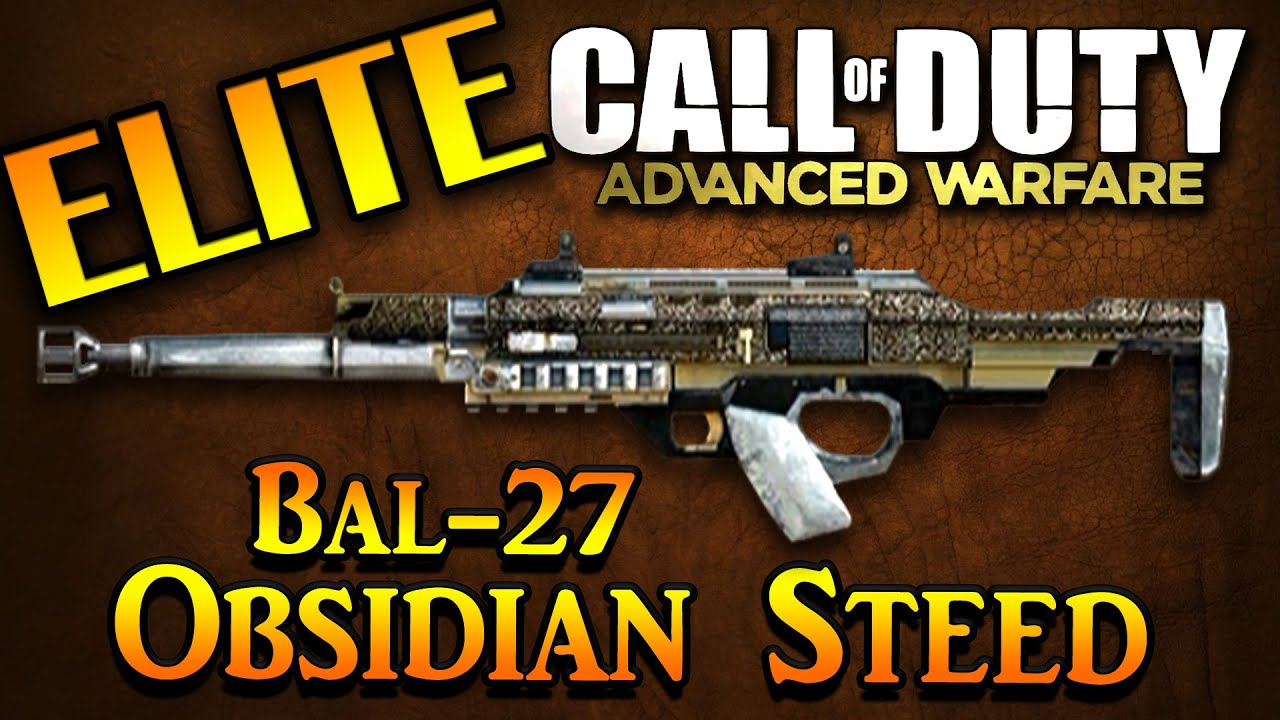 Cod advanced warfare elite bal 27 obsidian steed advanced warfare