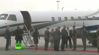 Duke and Duchess of Cambridge arrive in Warsaw, Poland