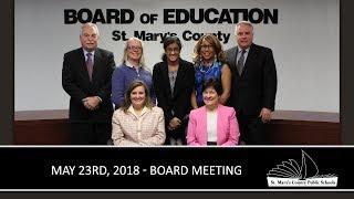 Board Of Education Meeting 5/23/2018