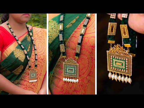 Paper NECKLACE | Made up of paper | handmade jewelry | DIY | 5 min craft | Art with Creativity