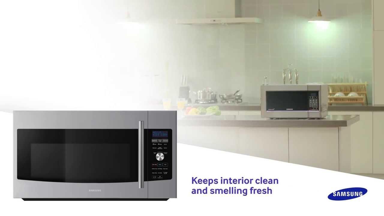 steam clean microwaves by samsung
