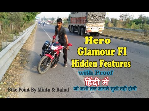 3 Hidden Features Of Hero Glamour Fi Latest technology Mileage Meter Bank  Angle Sensor & RPM Set hin