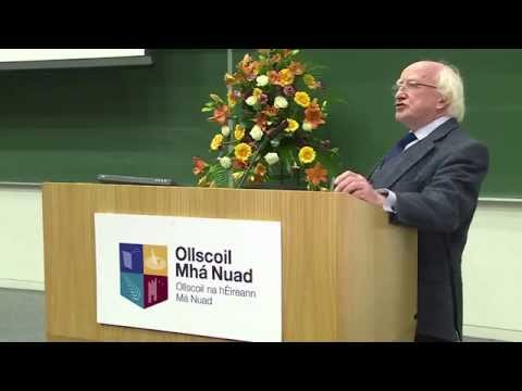 President Michael D Higgins launches Social Justice Week at Maynooth University