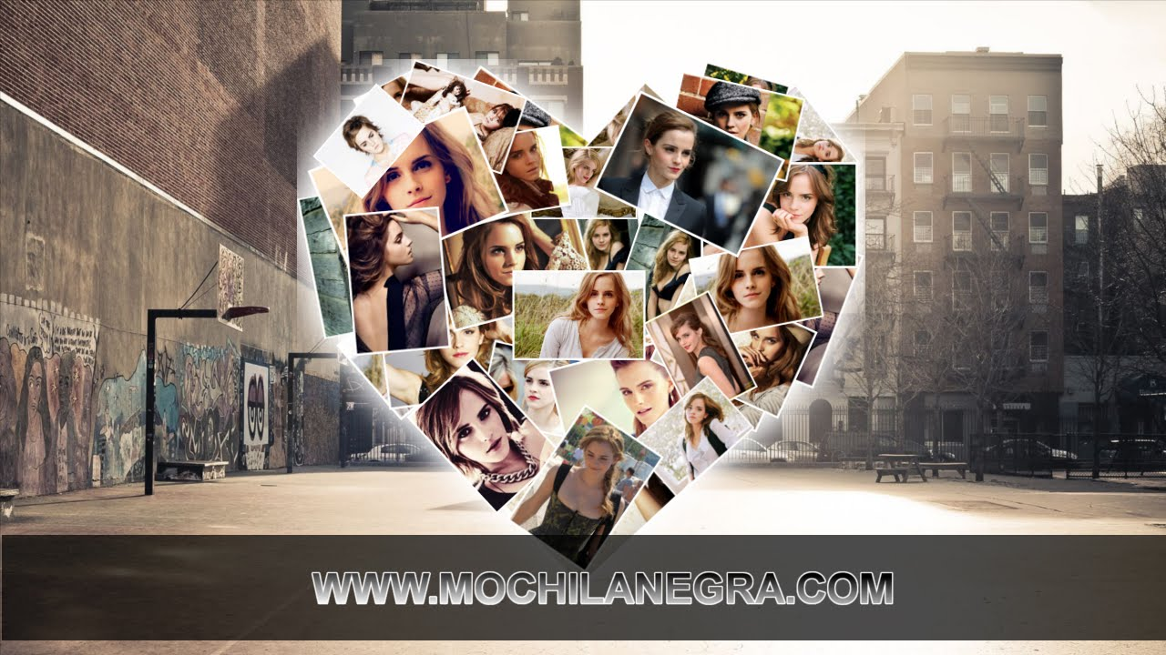 Hacer un collage en forma de corazón con Gimp - YouTube