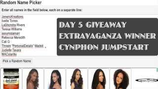 DAY 5 and 6 - GIVEAWAY EXTRAVAGANZA WINNER (CYNPHON  JUMPSTART  AND MX-11 USB CHARGER)