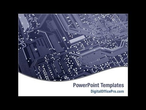 Printed Circuit Board PowerPoint Template Backgrounds