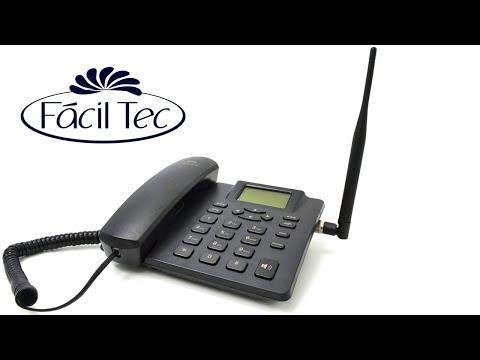 Telefone Celular Rural De Mesa Dual Chip Desbloqueado Antena 5Dbi da Fácil Tec