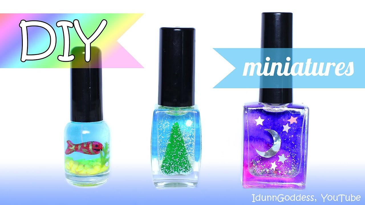 3 Diy Miniatures In Nail Polish Bottles How To Make Miniature