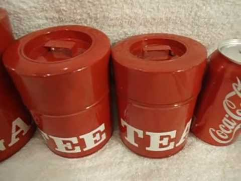 Vintage Metal 4-Pc Kitchen Canister Set<a href='/yt-w/IM5iQ-rcEeg/vintage-metal-4-pc-kitchen-canister-set.html' target='_blank' title='Play' onclick='reloadPage();'>   <span class='button' style='color: #fff'> Watch Video</a></span>