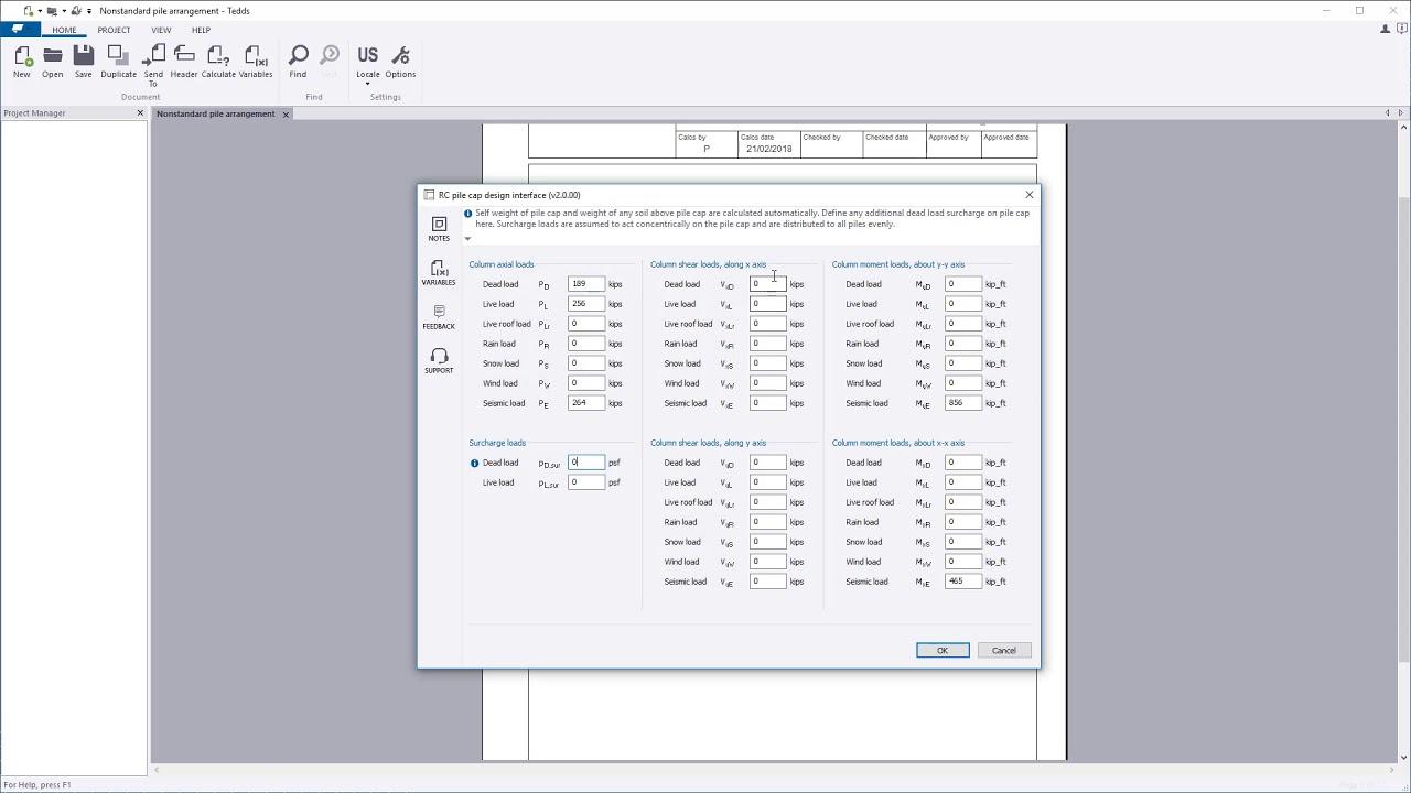 Tekla Tedds RC Pile Cap Design ACI 318 | Tekla