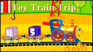 Cartoons For Children - Toy Trains Railway Journey - Learn To Count Cartoon For Kids