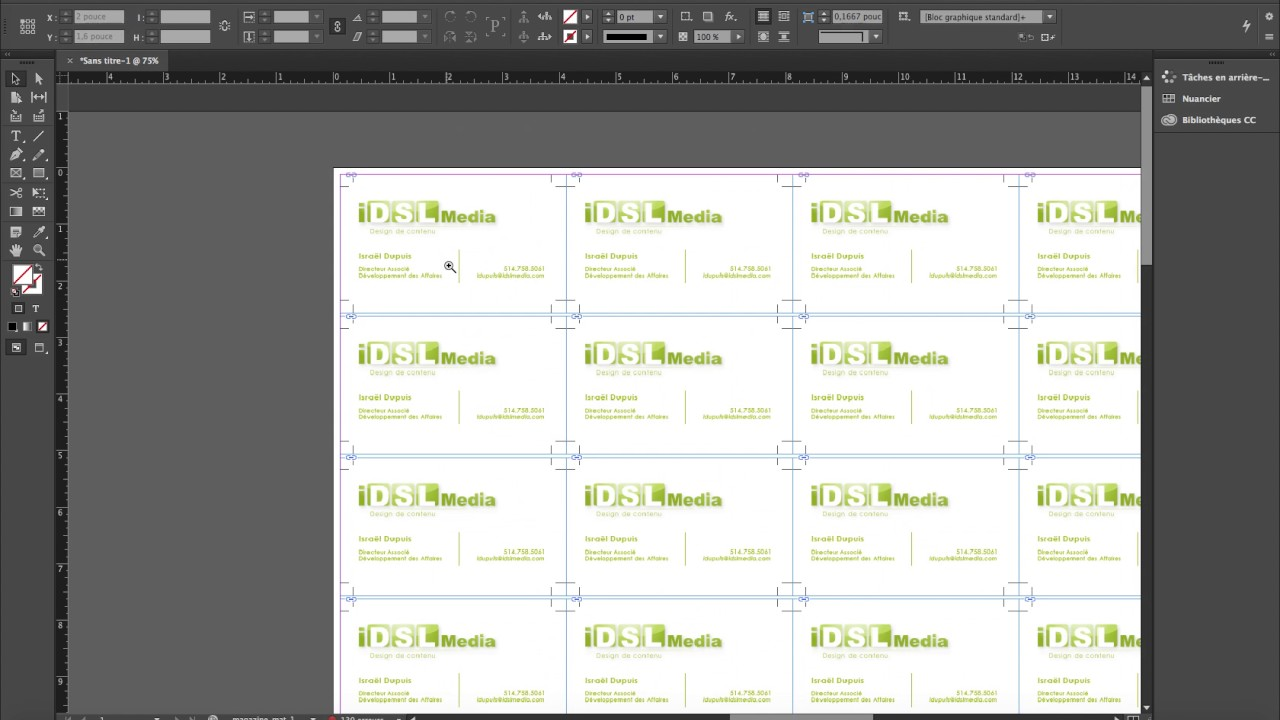 89 Tuto Carte De Visite Indesign