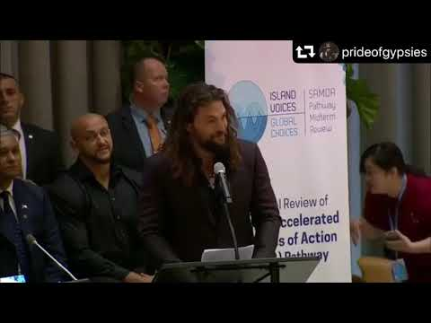 Jason Momoa addresses the UN