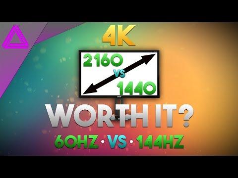 4K 60Hz vs 1440p 144Hz ~ Is 4K Worth It? ~ GTX 1070