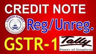 Tally ERP 9-Credit Note in GSTR-1 Part-47|Credit Note registered or unregistered dealers GST Tally