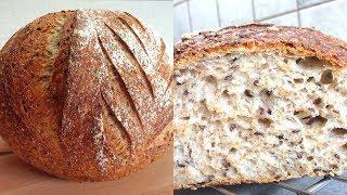 ???? Бездрожжевой хлеб на закваске с семенами льна