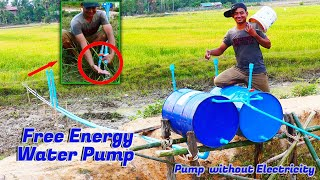 Free energy water pump For Rice Field Double Tank - Pump Without Electricity Big Project
