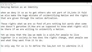 PWA 102 Dening identity to a N…