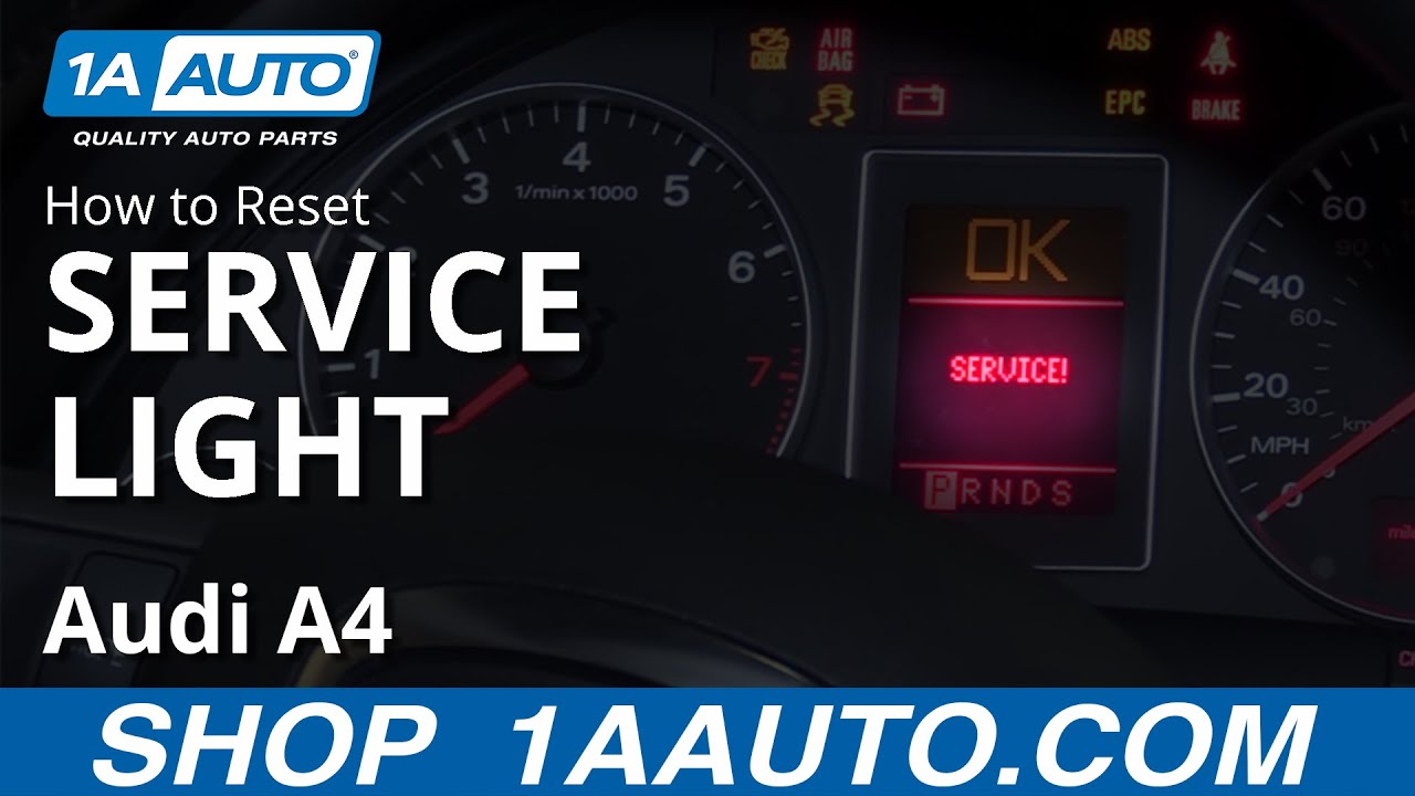 How to Reset Service Light 04-09 Audi A4