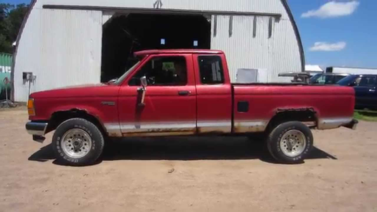 1991 ford ranger pickup truck for sale by online auction. Black Bedroom Furniture Sets. Home Design Ideas