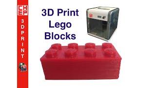 3D Print Lego Blocks on a Davinci 1.0 Printer - Video #034