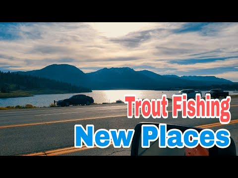 Trout Fishing At New Places.  Meadow Creek Reservoir And Dillon Reservoir, Colorado #송어낚시 #マス釣り