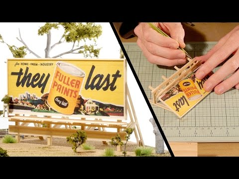 HO Scale Billboard – Model Railroad Scenery