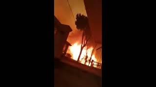 Live video in a Bushfire Greece July 2018 Mati and Neo Voutza area (φωτιές από Μάτι και Νέο Βουτζα)
