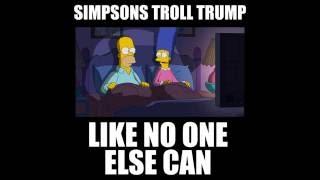 Simpsons Trolling Trump
