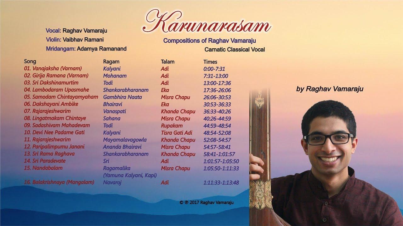 Raghav Vamaraju – Rajarajeshwarim: Mayamalavagowla, Khanda