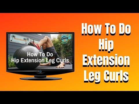 How To Do Stability Ball Hip Extension Leg Curls Hamstrings Leg Workout | BJ Gaddour