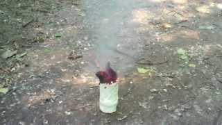 Вулкан (сахар + KNO3 + сода)(Рецепт практически идентичен с дымовой шашкой из вареной селитры с сахаром и содой, но разница лишь во врем..., 2013-06-28T14:45:10.000Z)